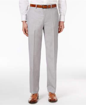 Sean John Men's Classic-Fit Silver and Gray Sharkskin Dress Pants