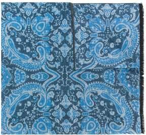 Kiton paisley print scarf