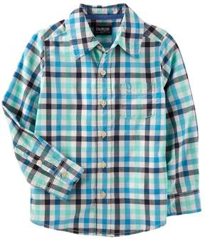 Osh Kosh Oshkosh Bgosh Boys 4-12 Button Down Dress Shirt