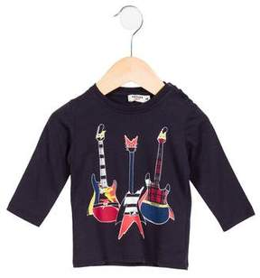 Junior Gaultier Girls' Tiziano Guitar Print Top w/ Tags