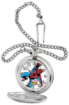 Marvel Men's Spider-Man Silver Pocket Watch - Silver