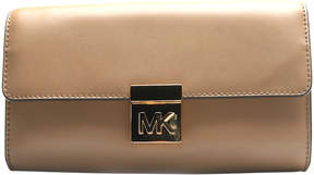 Michael Kors Dark Khaki Mindy Leather Clutch - DARK - STYLE