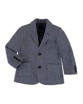 Mayoral Knitted Cotton-Blend Sport Coat, Size 3-7
