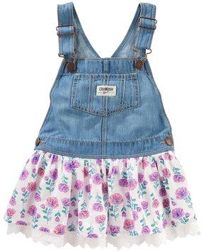 Osh Kosh Toddler Girl Floral Denim Jumper