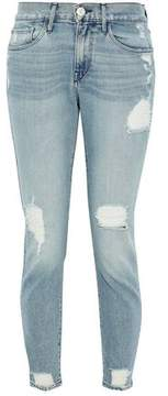 3x1 Distressed Mid-Rise Skinny Jeans