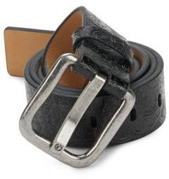 Robert Graham Lilong Scroll-Motif Leather Belt