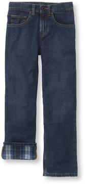 L.L. Bean L.L.Bean Boys' Double L Straight Leg Jeans, Flannel-Lined