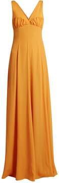 Emilia Wickstead Fanina crossover-back crepe gown