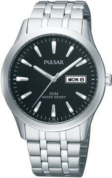 Pulsar Mens Stainless Steel Watch PXN159X