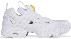 Vetements Reebok Logo Instapump Fury Printed Leather And Mesh Sneakers - White