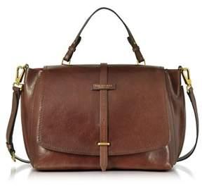 The Bridge Women's Brown Leather Shoulder Bag.