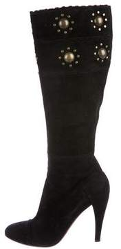 Alaia Suede Knee-High Boots