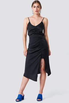 NA-KD Na Kd Satin Drawstring Midi Skirt