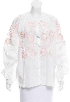 Alice McCall Embroidered Long Sleeve Top