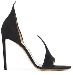 Francesco Russo Women's Black Leather Sandals.