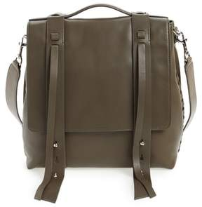 AllSaints Fin Leather Backpack - Green