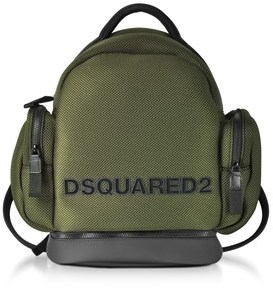 DSQUARED2 Men's Green Fabric Backpack.