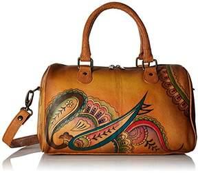 Anuschka Anna by Women's Genuine Leather Satchel | Zip Around | | Royal Paisley