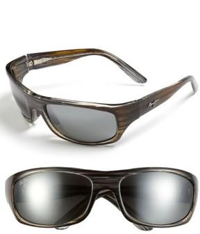 Maui Jim Men's 'Surf Rider - Polarizedplus2' 63Mm Sunglasses - Grey/ Black