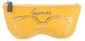 Rebecca Minkoff Leather Sunnies Pouch - YELLOW - STYLE