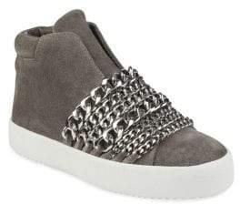 KENDALL + KYLIE Side-Zip Suede Streetwear