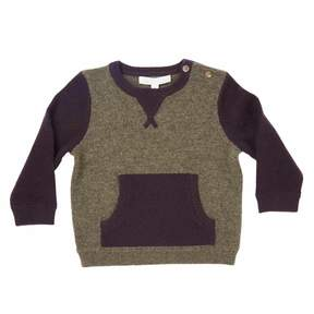 Marie Chantal Baby Boy Mini Two-tone Cashmere Sweater - Army/Raisin