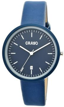 Crayo Easy Collection CRACR2407 Unisex Watch with Leather Strap