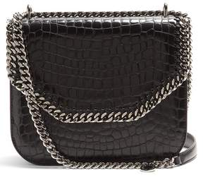 Stella McCartney Falabella Box Crocodile Effect Cross Body Bag - Womens - Black