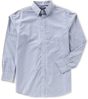 Roundtree & Yorke Trademark Big & Tall Long-Sleeve Dobby Sportshirt