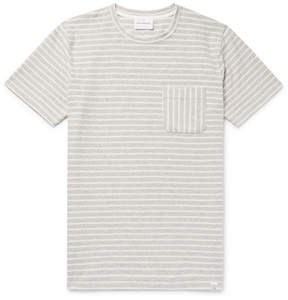 Norse Projects Niels Striped Cotton-Terry T-Shirt