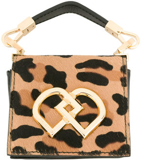 Dsquared2 leopard print clutch bag
