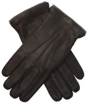 Portolano Men's Textured Leather Gloves