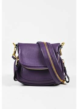 Tom Ford Pre-owned Purple Leather Zipped Mini jennifer Bag.