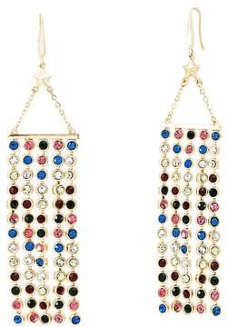 Steve Madden Crystal Glass Fringe Drop Earrings