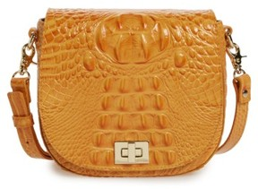 Brahmin Mini Sonny Leather Crossbody Bag - Orange