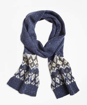 Brooks Brothers Fair Isle Wool-Blend Scarf