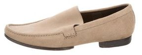 Christian Dior Suede Round-Toe Loafers