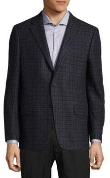 Hickey Freeman Checkered Blazer