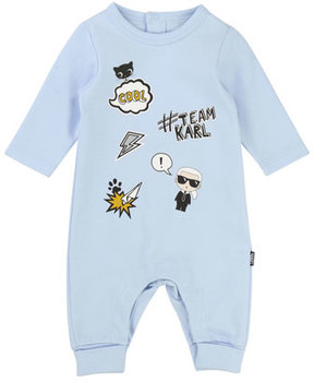 Karl Lagerfeld Graphic Print Coverall, Size 3-12 Months