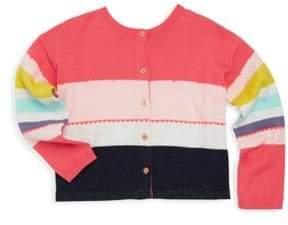 Catimini Little Girl's & Girl's Mixed Colorblock Cardigan
