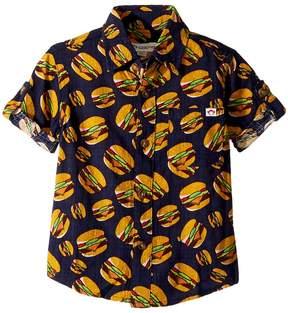 Appaman Kids Hamburger Button Up Pattern Shirt Boy's Clothing