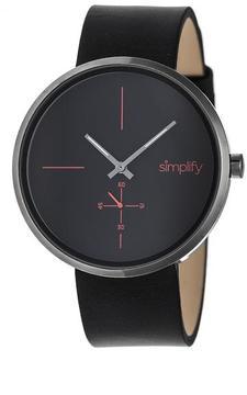 Simplify The 4400 Collection SIM4404 Gunmetal Analog Watch