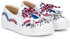 Ermanno Scervino embroidered tassel sneakers