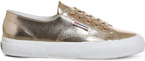 Superga 2750 cracked rose-gold trainers