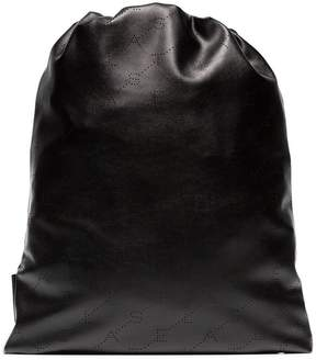 Stella McCartney Black drawstring back pack
