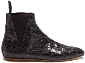 Loewe Sequin-embellished ankle boots