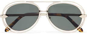 Karen Walker Jacques Aviator-style Gold-tone Sunglasses