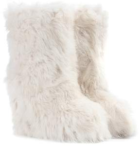 Moncler Shearling wedge ankle boots