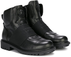 Young Versace slip-on boots