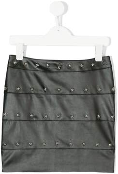 John Richmond Kids studded faux leather skirt